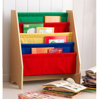 SLING BOOKSHELF in Primary Colour Finish