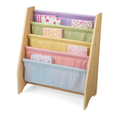 SLING BOOKSHELF in Pastel Colour Finish