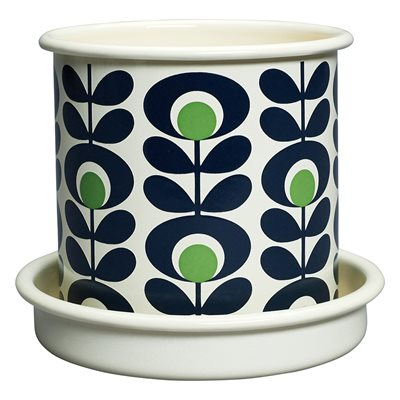 ORLA KIELY SMALL PLANT POT in Spot Oval Flower Apple Print