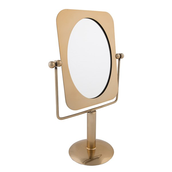 Vintage Style Brass Bathroom Mirror
