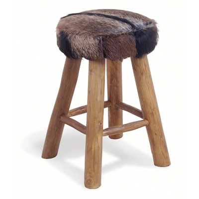 MEDIUM COWHIDE BAR STOOL