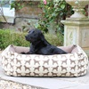 Small Labrador Print Dog Bed in Brown