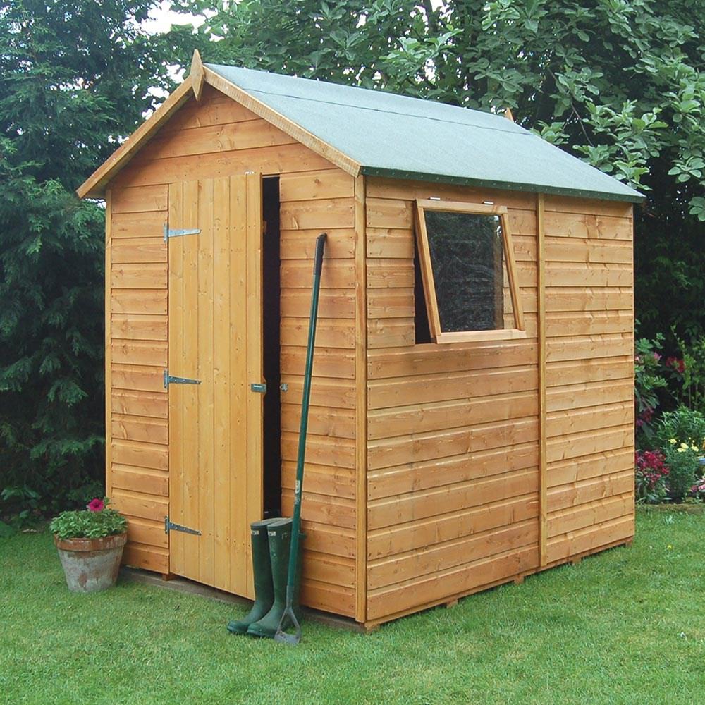 Rowlinson Premier Garden Shed In Honey Brown Rowlinson