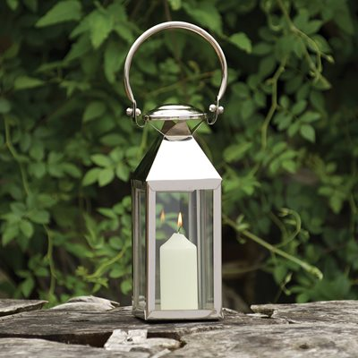 CULINARY CONCEPTS CHELSEA Traditional Lantern in Stainless Steel With Nickel Plate Finish