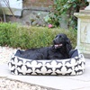 Small Dog Bed in Spaniel Print Black
