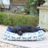 Small Dog Bed in Spaniel Print Blue