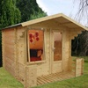 Small Studio Log Cabin with Single Door