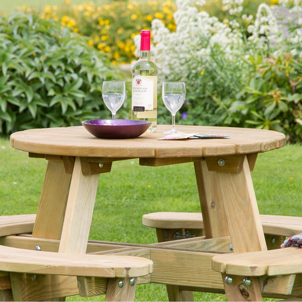 Strange Dewsall Round Picnic Table Andrewgaddart Wooden Chair Designs For Living Room Andrewgaddartcom