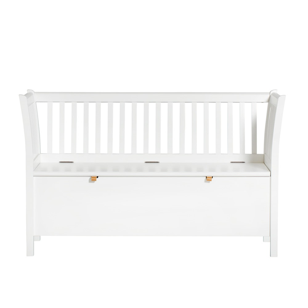 Small Bench In Seaside White Hallway Storage Cuckooland