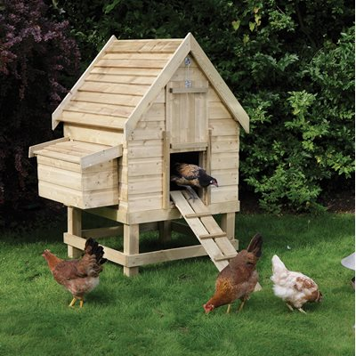 ROWLINSON SMALL WOODEN CHICKEN COOP