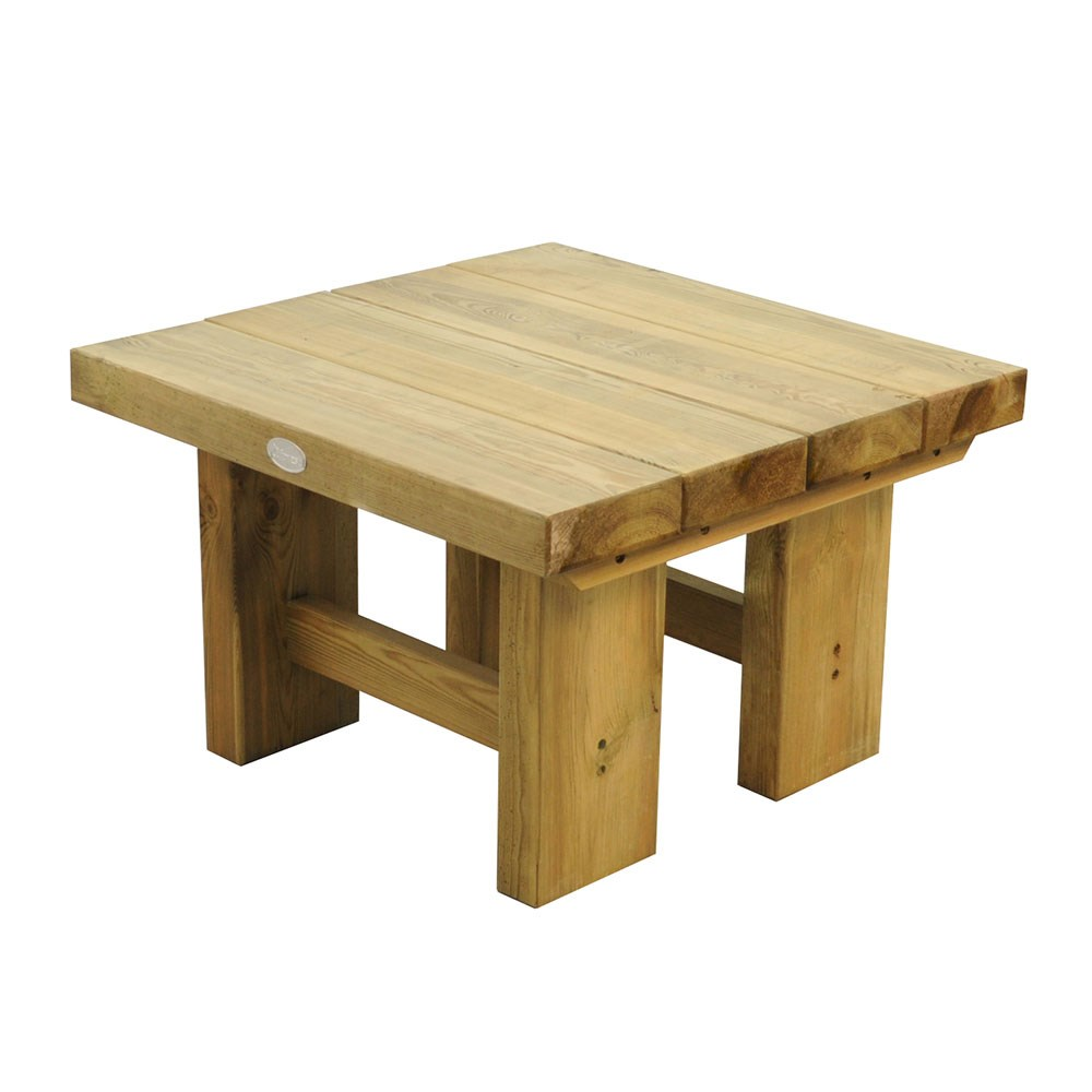 Forest Garden Low Sleeper Table, Small Wooden Table For Garden