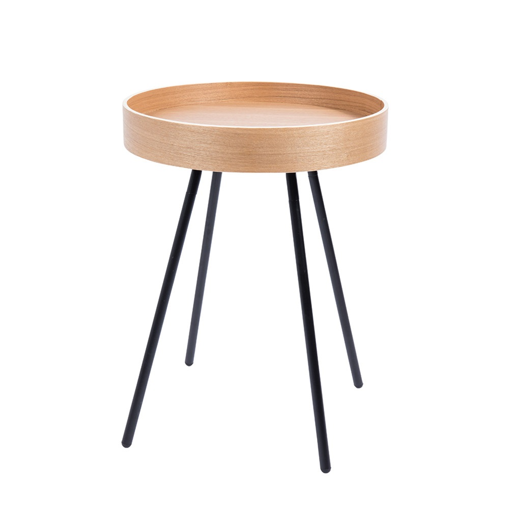 Small Wooden Side Table With Removable Tray Jpg