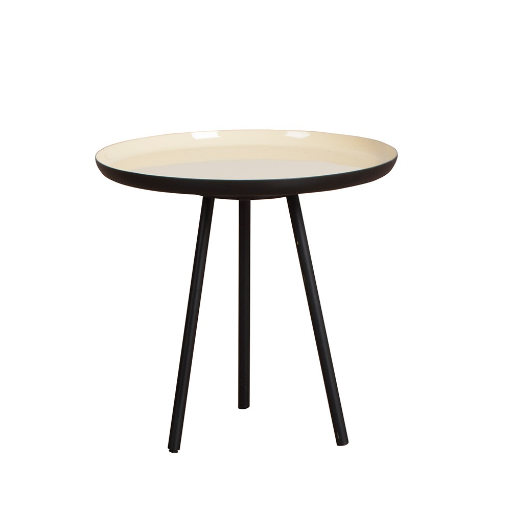 Zuiver Set Of 3 Retro Living Room Enamel Side Tables