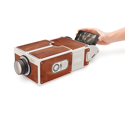 Smartphone Projector in Vintage Brown