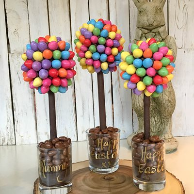 PERSONALISED  SMARTIE MINI EGG CHOCOLATE SWEET TREE