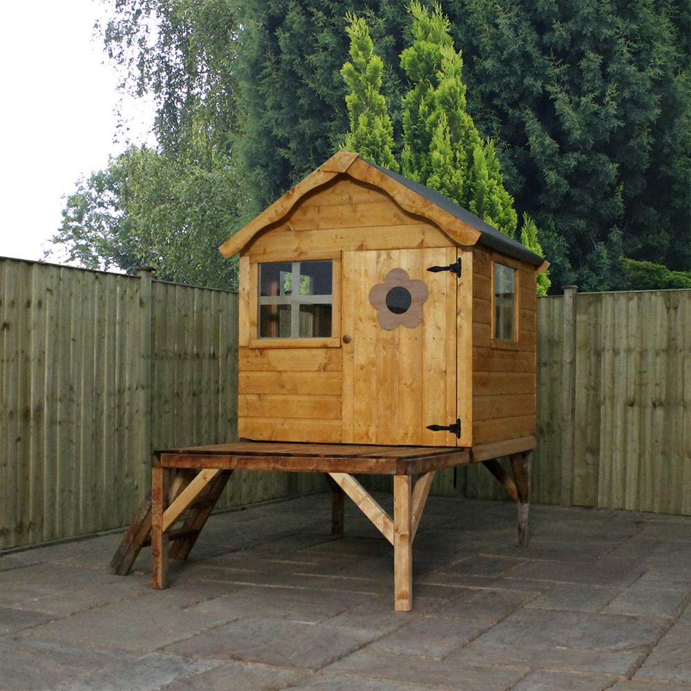 Mercia Kids Pine Snug Playhouse With Tower Mercia Garden Products