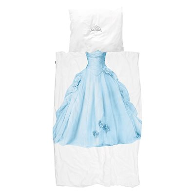 Snurk Childrens Princess Duvet Bedding Set in Blue
