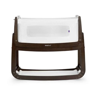 SnuzPod 3 Bedside Crib 3-in-1 with Mattress in Espresso
