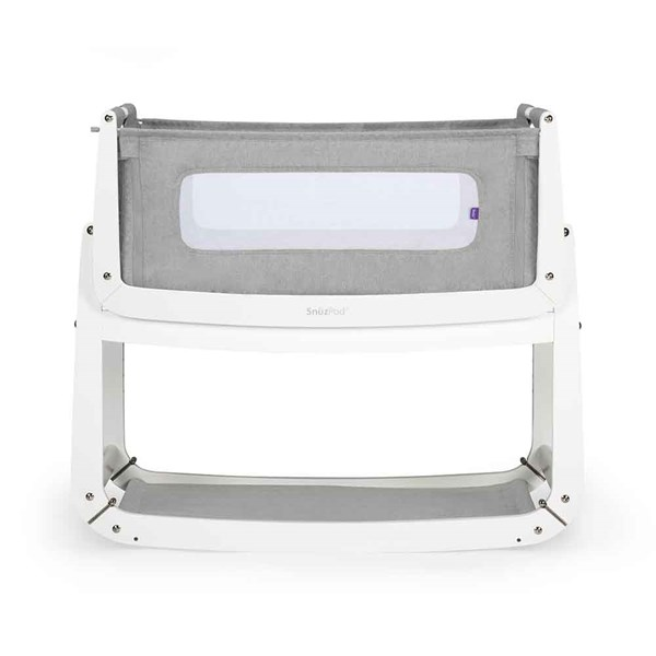 SnuzPod3 Bedside Crib 3-in-1 with Mattress in Dusk Grey