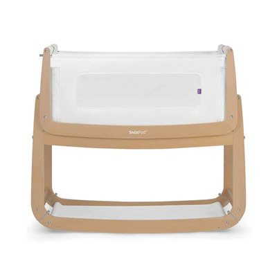SnuzPod 3 Bedside Crib 3-in-1 with Mattress in Natural Timber