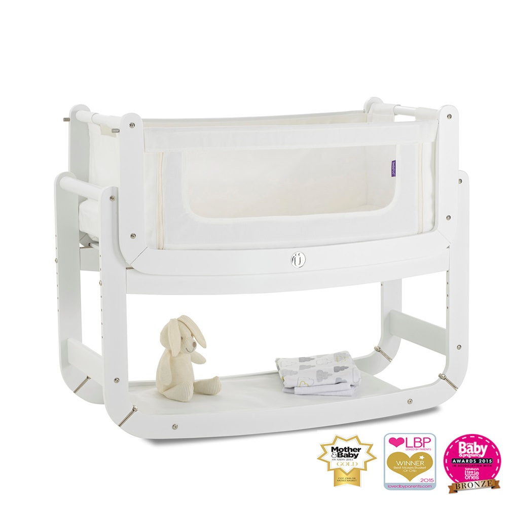 White Snuzpod 3 In 1 Crib With Mattress Snuz Pod