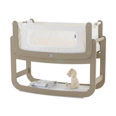 SNUZPOD 2 3-in-1 BEDSIDE CRIB with Mattress in Putty