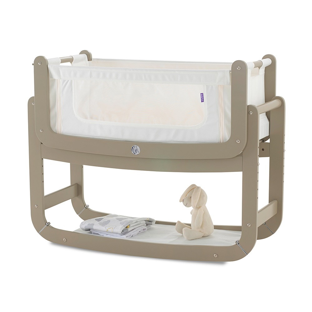 Baby crib for sale redditch -  Putty Grey Newborn Baby Co Sleeping Crib
