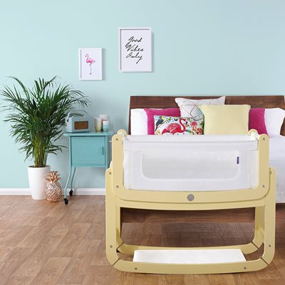 SNUZPOD 2: 3-in-1 BEDSIDE CRIB with Mattress in Sherbet