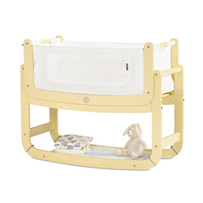 SnuzPod 2 3-in-1 Bedside Crib with Mattress in Sherbet