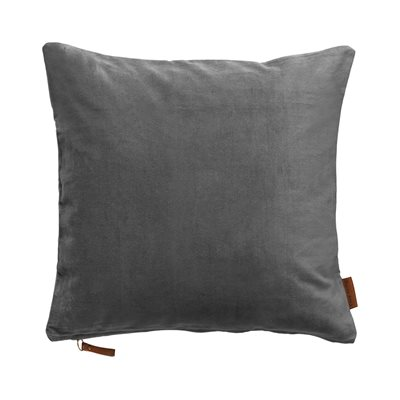 Cozy Living 50x50cm Soft Cotton Velvet Cushion in Cool Grey