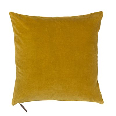 Cozy Living 50x50cm Soft Cotton Velvet Cushion in Curry