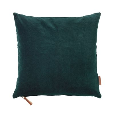 Cozy Living 50x50cm Soft Cotton Velvet Cushion in Deep Forrest
