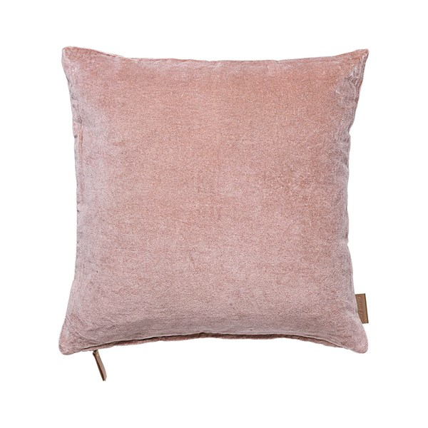 Soft Cotton Velvet Cushion in Magnolia