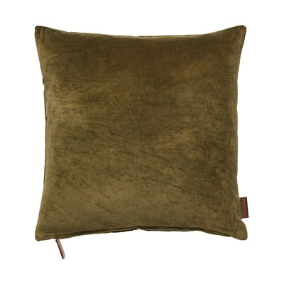 Cozy Living 50x50cm Soft Cotton Velvet Cushion in Mustard