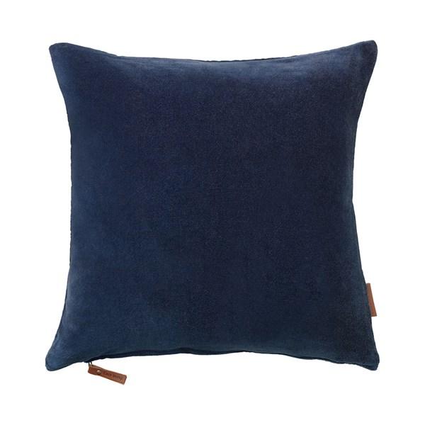 Soft Cotton Velvet Cushion in Ocean