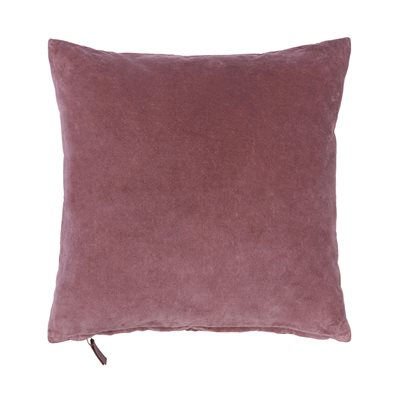 Cozy Living 50x50cm Soft Cotton Velvet Cushion in Rouge