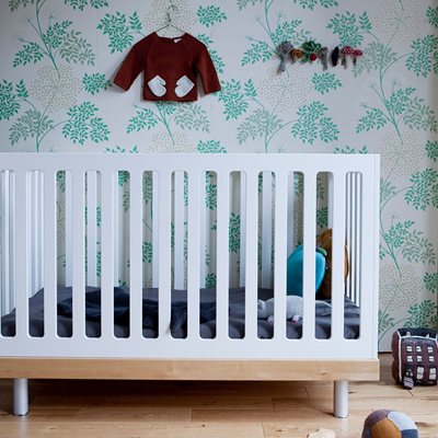Oeuf Classic Cot Bed in White & Birch