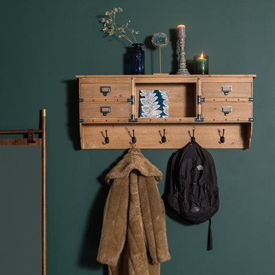 DUTCHBONE AMADOR WALL MOUNTED COAT RACK