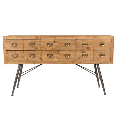 Dutchbone Six Solid Wood Sideboard