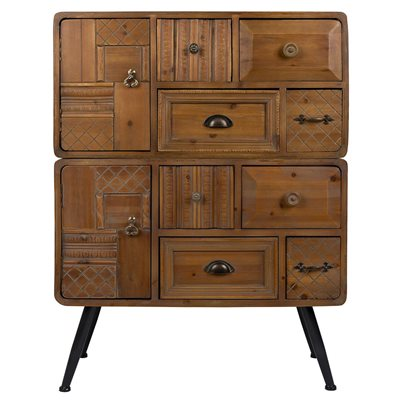 DUTCHBONE JOVE SOLID FIR WOOD CABINET with Antique Finish