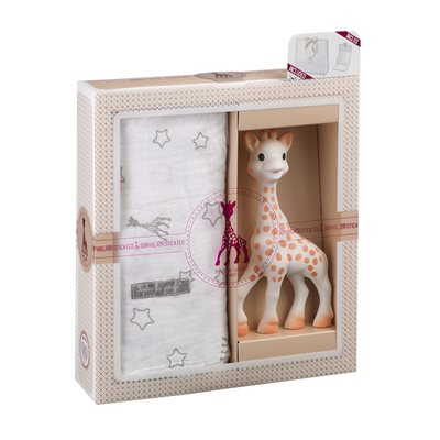 Sophie La Girafe Swaddle Gift Set