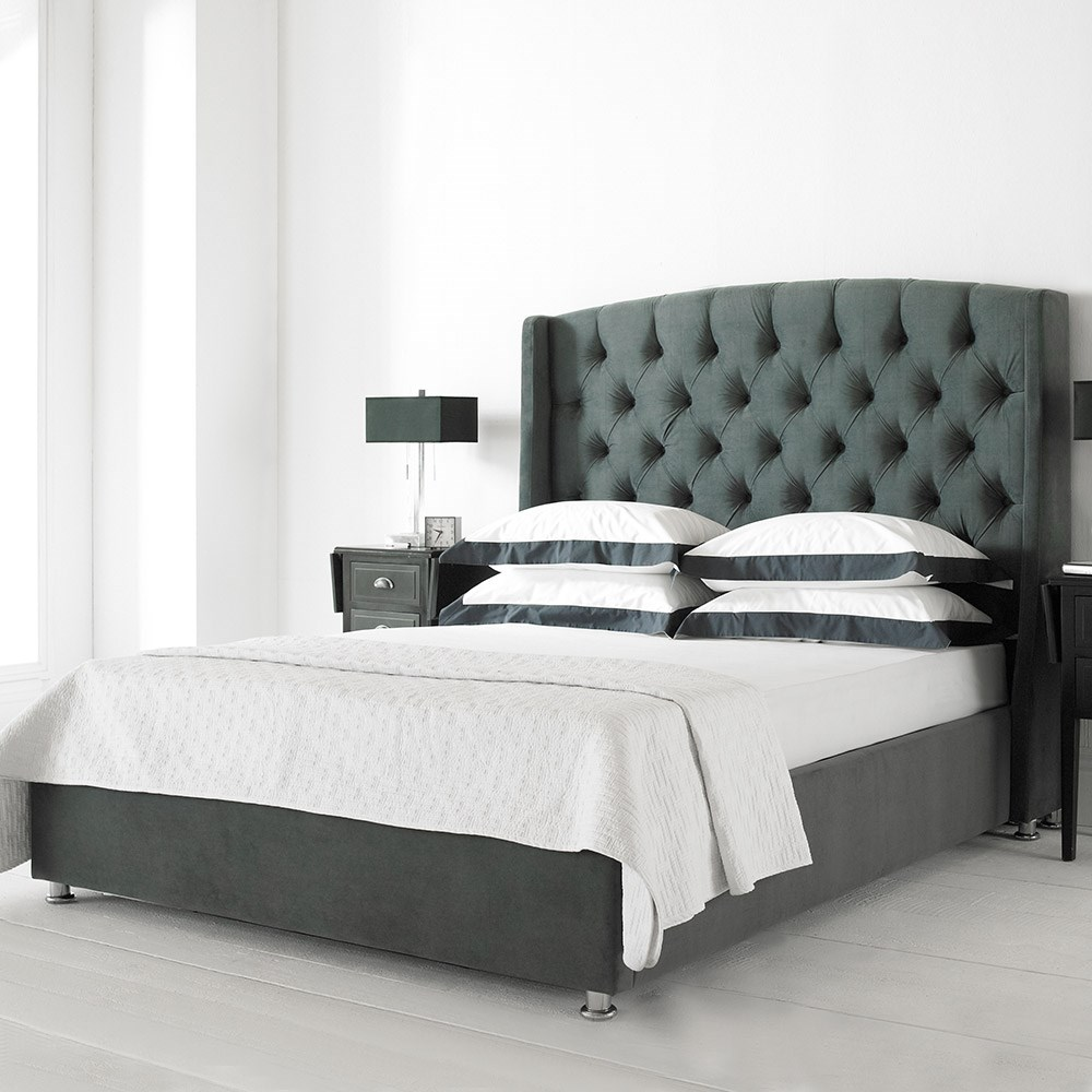Marvelous Buckingham Upholstered Ottoman Bed In Charcoal Grey Ncnpc Chair Design For Home Ncnpcorg