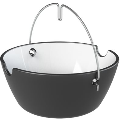 WELL DONE BBQ & SOUP BOWL Pack of 4 in Black