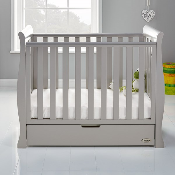 Obaby Stamford Space Saver Cot in Warm Grey