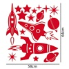 Example of Space Rocket Sticker Cut Out Sheets
