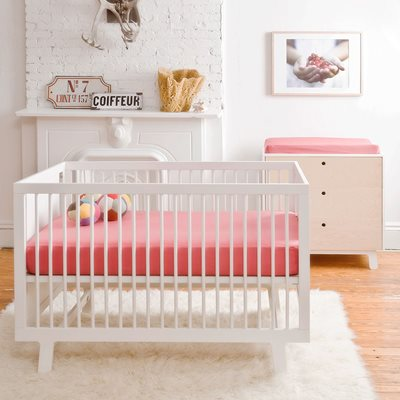 Oeuf Sparrow Cot Bed in White