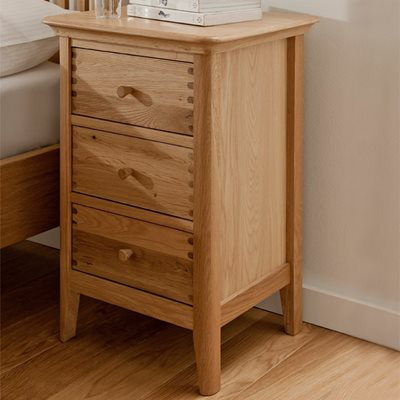 WILLIS & GAMBIER SPIRIT BEDSIDE TABLE with 3 Drawers