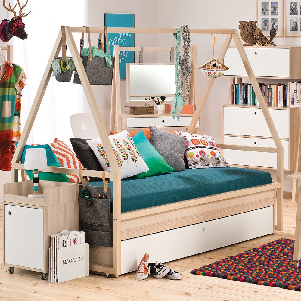 info for 2bf39 5c574 Vox Spot Kids Tipi Bed & Frame with Trundle Drawer in White