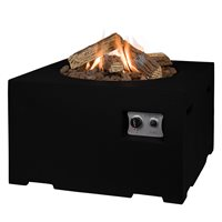 SQUARE COCOON GAS FIRE PIT in Black