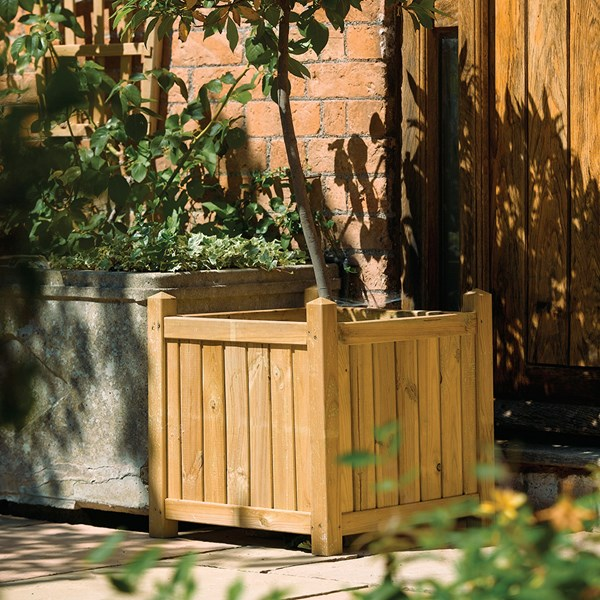 Rowlinson Wooden Planter in Natural Timber